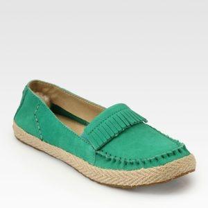 UGG Australia Women's Marrah Green Leather Loafer